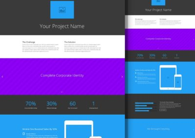 Шаблон страницы проекта
