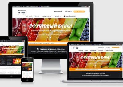 Сервис для торговли фруктами онлайн
